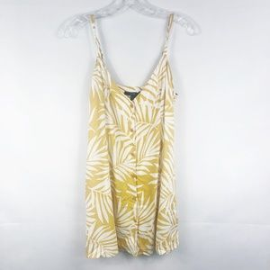 Forever 21   NWT Yellow & White Palm Leaf Dress